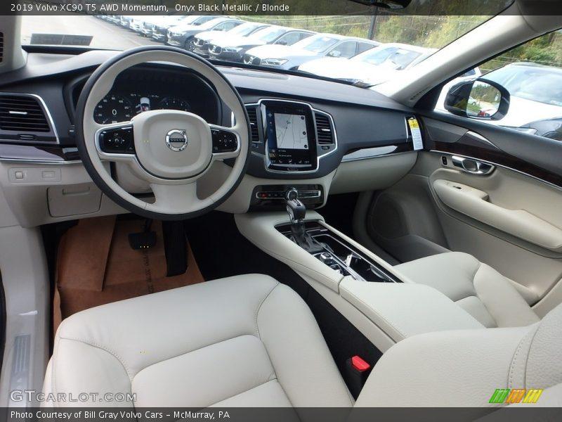 2019 XC90 T5 AWD Momentum Blonde Interior