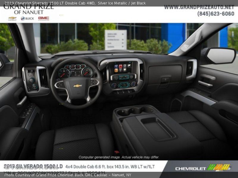 Silver Ice Metallic / Jet Black 2019 Chevrolet Silverado 1500 LT Double Cab 4WD