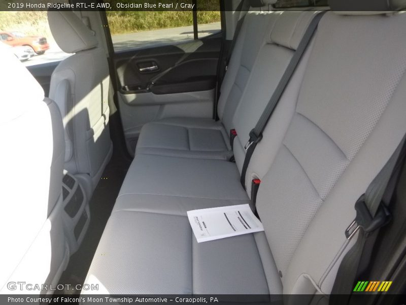 Rear Seat of 2019 Ridgeline RTL-E AWD