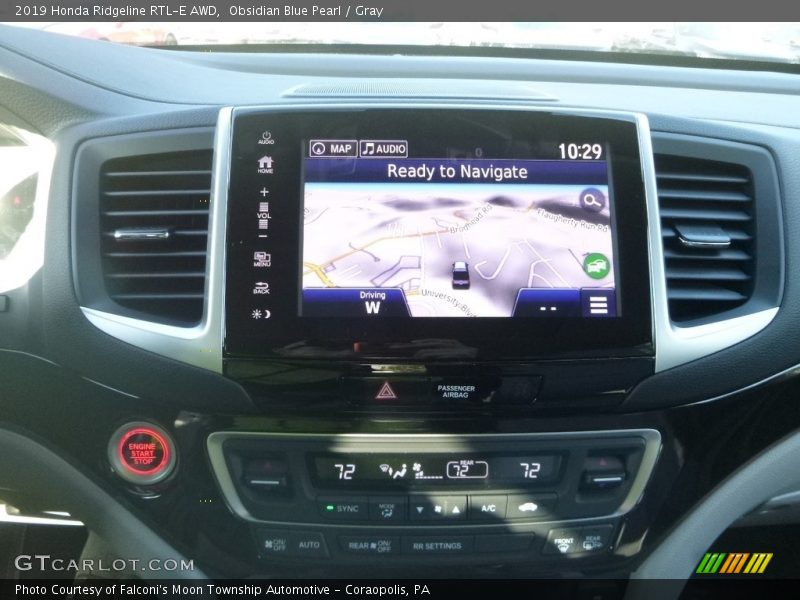 Navigation of 2019 Ridgeline RTL-E AWD