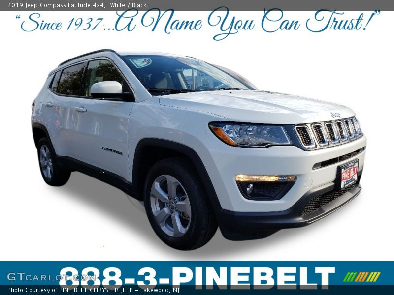 White / Black 2019 Jeep Compass Latitude 4x4