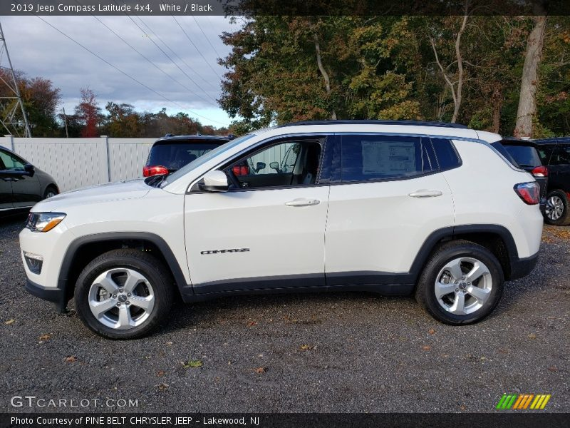 2019 Compass Latitude 4x4 White
