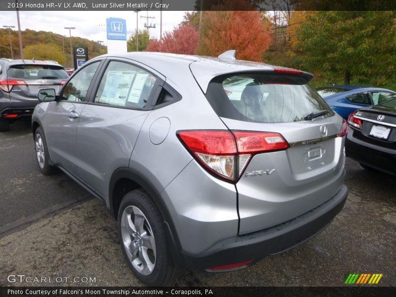 Lunar Silver Metallic / Gray 2019 Honda HR-V LX AWD