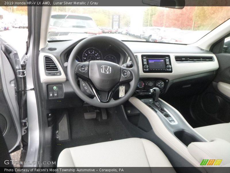 2019 HR-V LX AWD Gray Interior