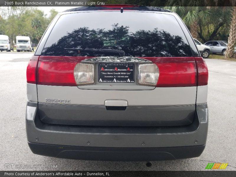 Platinum Metallic / Light Gray 2005 Buick Rendezvous CX