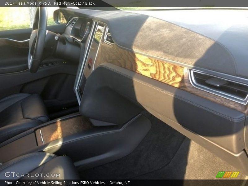 Red Multi-Coat / Black 2017 Tesla Model X 75D