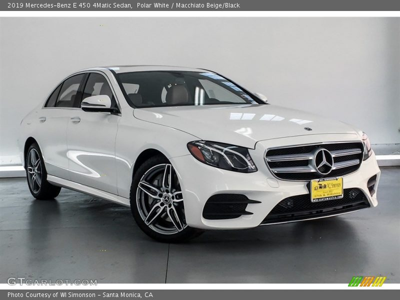 Polar White / Macchiato Beige/Black 2019 Mercedes-Benz E 450 4Matic Sedan