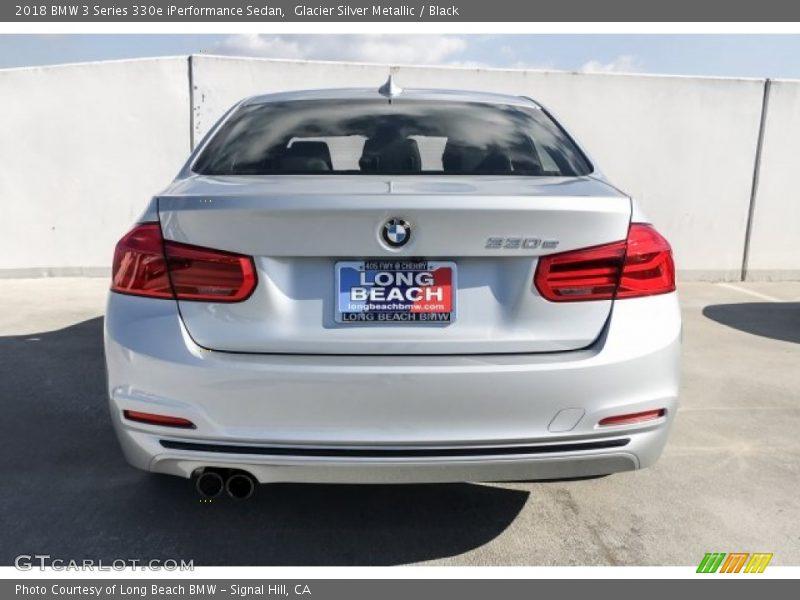 Glacier Silver Metallic / Black 2018 BMW 3 Series 330e iPerformance Sedan