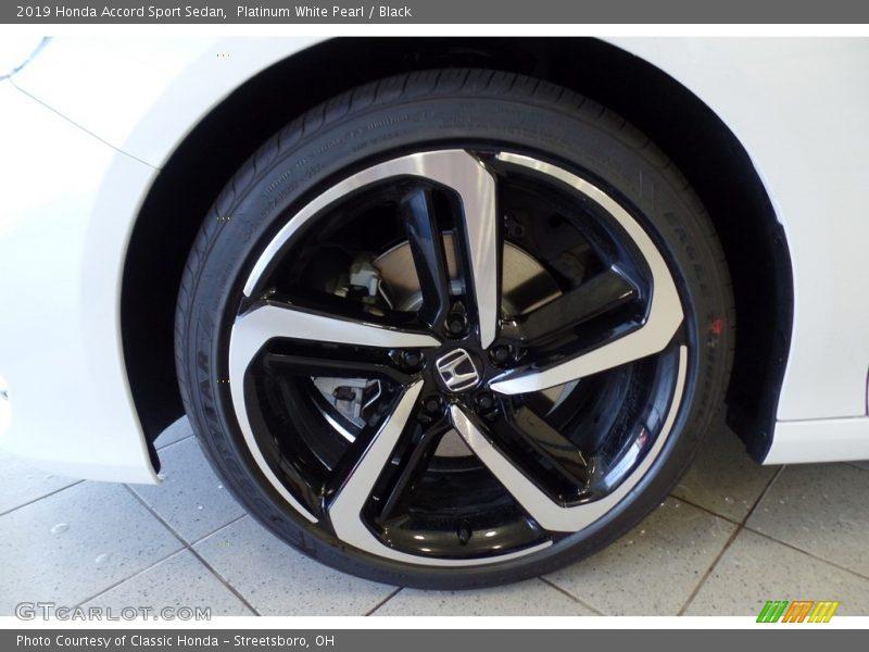 Platinum White Pearl / Black 2019 Honda Accord Sport Sedan