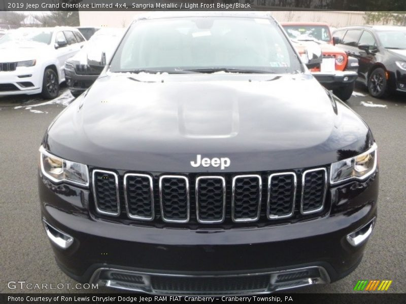 Sangria Metallic / Light Frost Beige/Black 2019 Jeep Grand Cherokee Limited 4x4