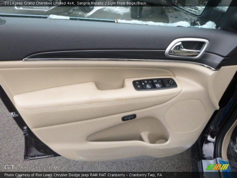 Sangria Metallic / Light Frost Beige/Black 2019 Jeep Grand Cherokee Limited 4x4