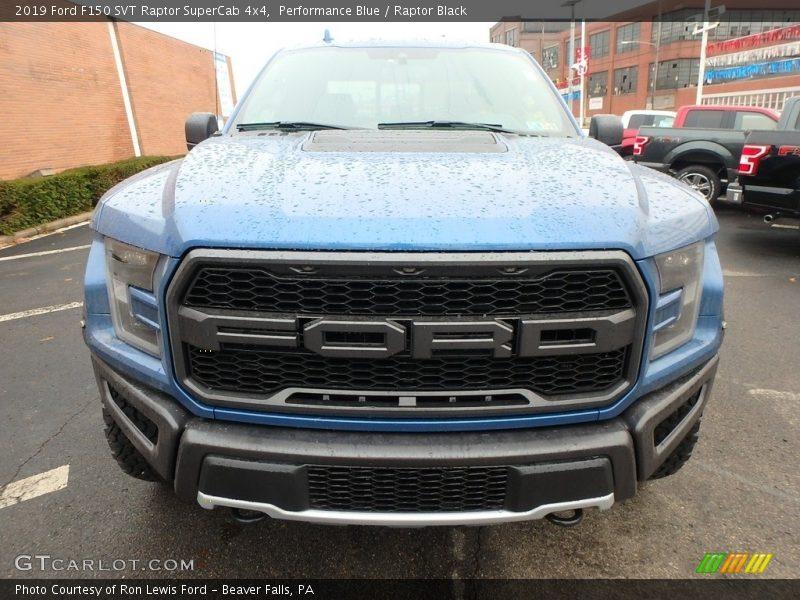 Performance Blue / Raptor Black 2019 Ford F150 SVT Raptor SuperCab 4x4