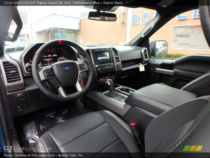 2019 F150 SVT Raptor SuperCab 4x4 Raptor Black Interior