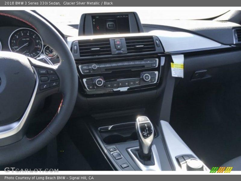 Glacier Silver Metallic / Black 2018 BMW 3 Series 330i Sedan