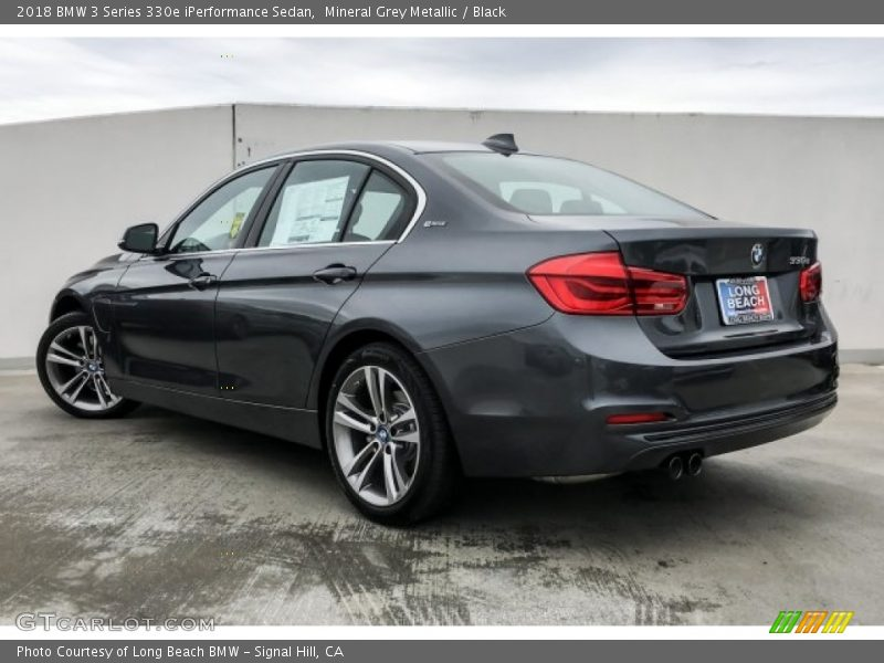 Mineral Grey Metallic / Black 2018 BMW 3 Series 330e iPerformance Sedan