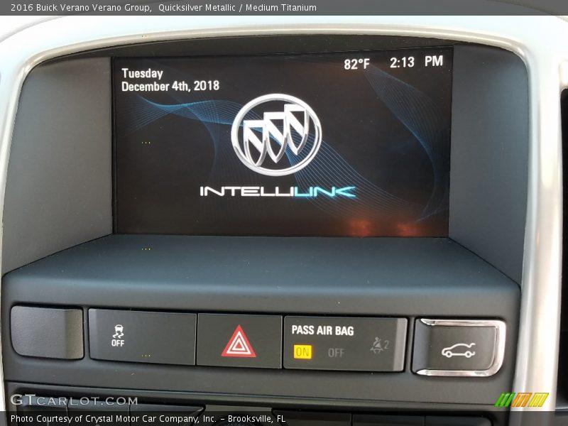 Quicksilver Metallic / Medium Titanium 2016 Buick Verano Verano Group
