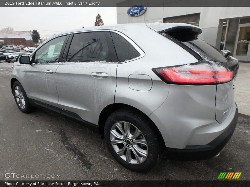 Ingot Silver / Ebony 2019 Ford Edge Titanium AWD