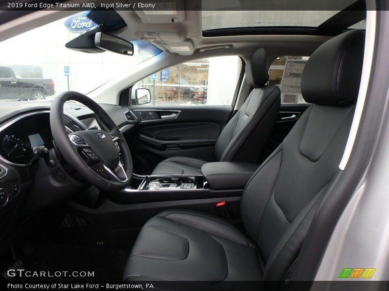 Front Seat of 2019 Edge Titanium AWD