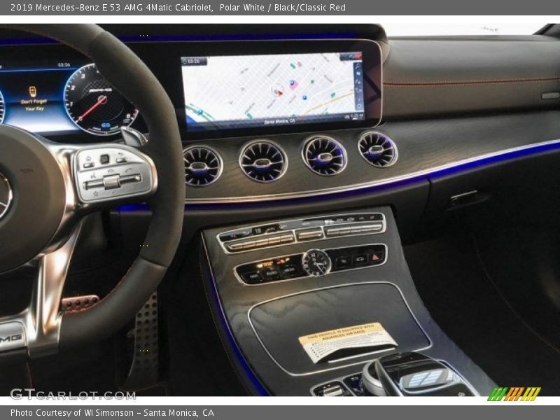 Polar White / Black/Classic Red 2019 Mercedes-Benz E 53 AMG 4Matic Cabriolet