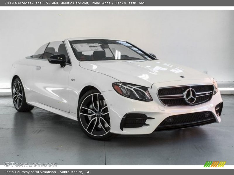 Front 3/4 View of 2019 E 53 AMG 4Matic Cabriolet