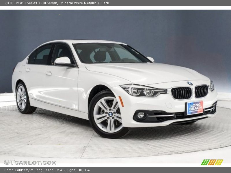 Mineral White Metallic / Black 2018 BMW 3 Series 330i Sedan