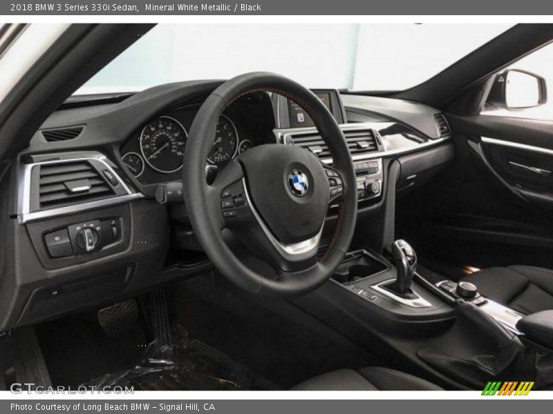Mineral White Metallic / Black 2018 BMW 3 Series 330i Sedan