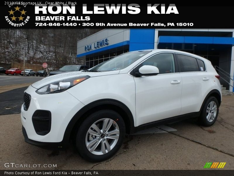 Clear White / Black 2019 Kia Sportage LX
