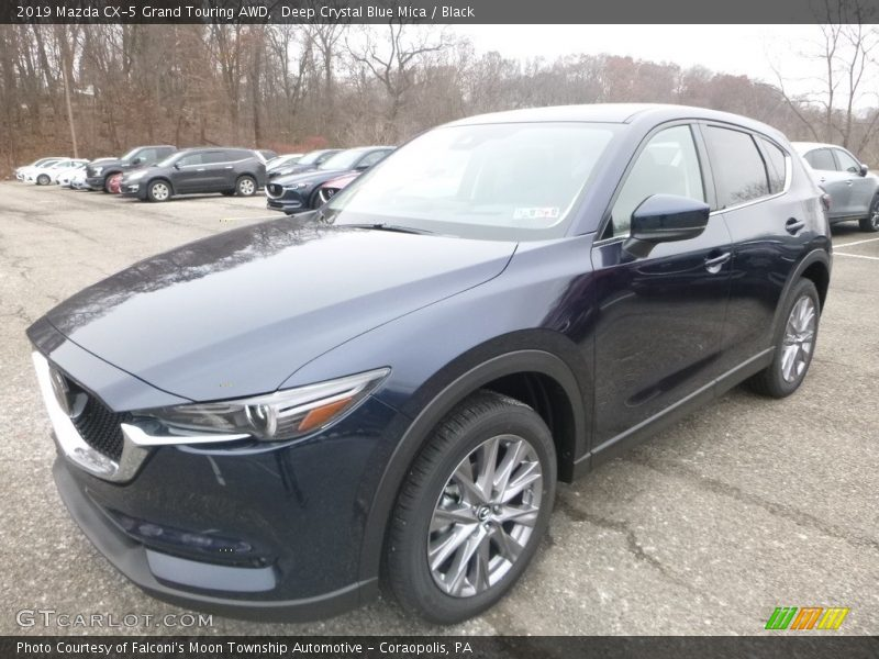 Deep Crystal Blue Mica / Black 2019 Mazda CX-5 Grand Touring AWD