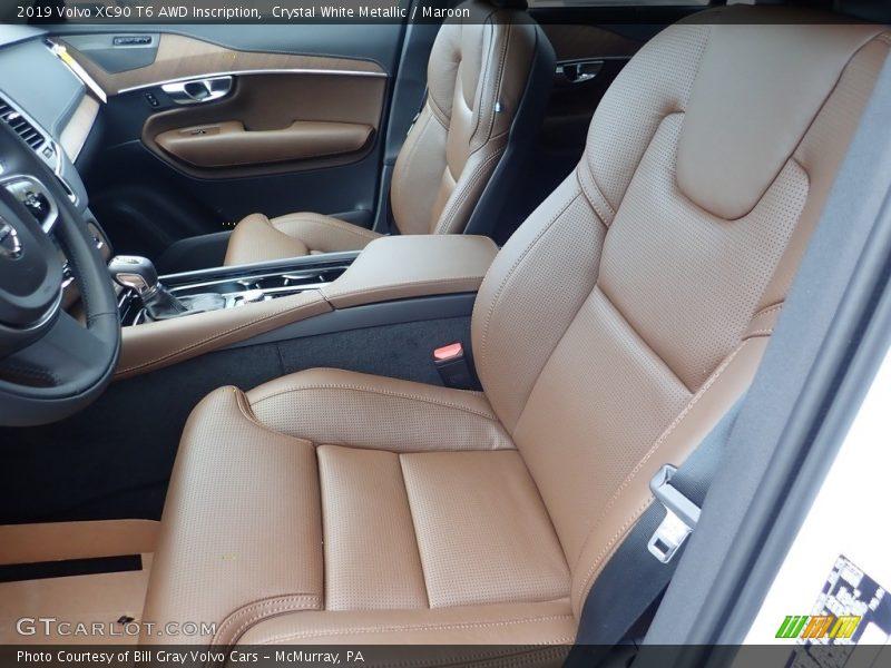 Crystal White Metallic / Maroon 2019 Volvo XC90 T6 AWD Inscription