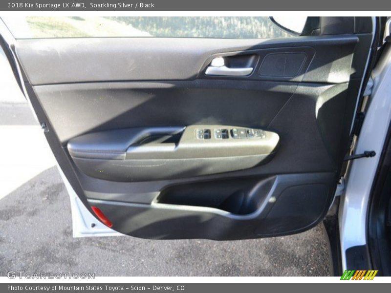 Sparkling Silver / Black 2018 Kia Sportage LX AWD