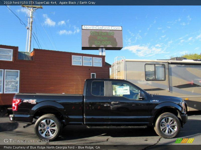 Agate Black / Earth Gray 2019 Ford F150 STX SuperCab 4x4