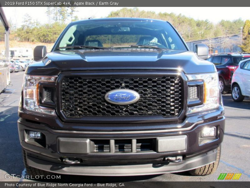 Agate Black / Earth Gray 2019 Ford F150 STX SuperCab 4x4