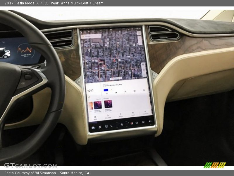 Navigation of 2017 Model X 75D