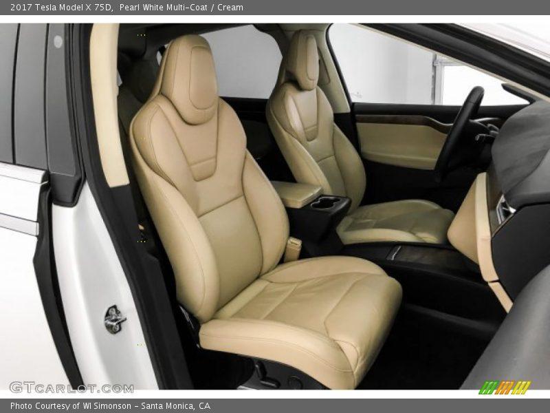 2017 Model X 75D Cream Interior