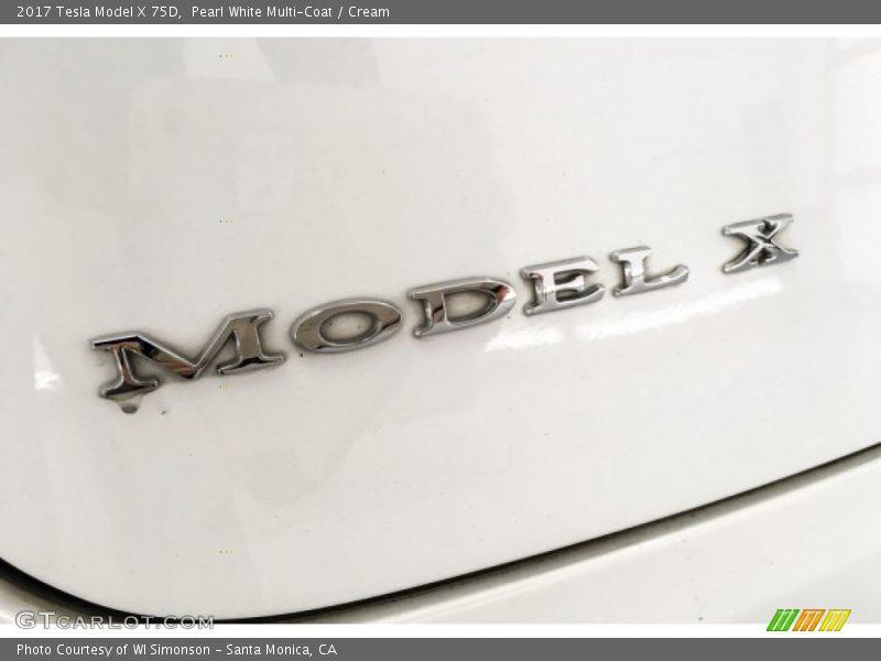 2017 Model X 75D Logo