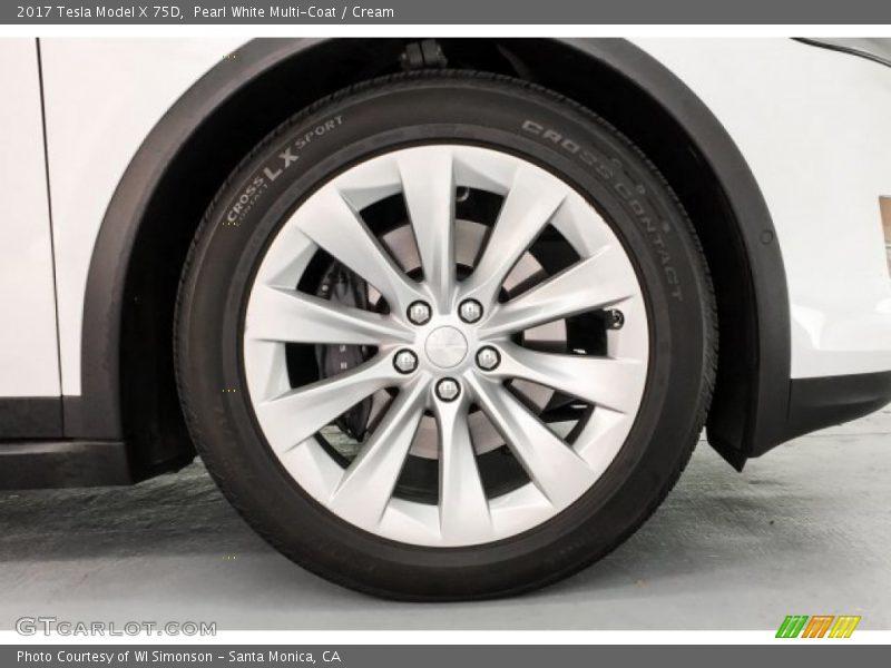 2017 Model X 75D Wheel