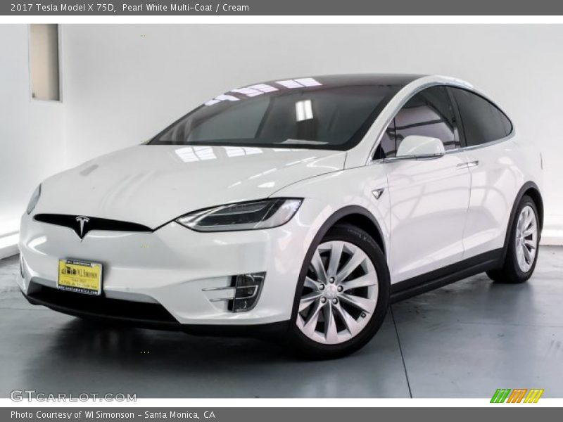 Front 3/4 View of 2017 Model X 75D