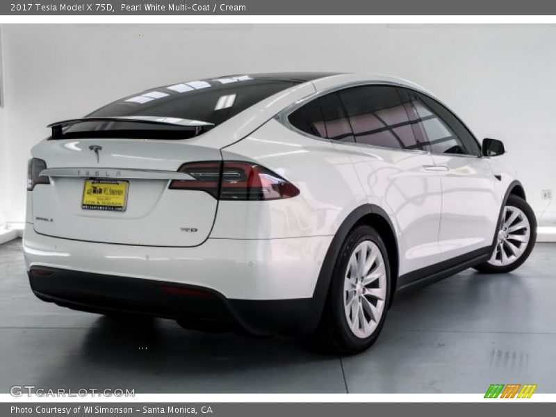 Pearl White Multi-Coat / Cream 2017 Tesla Model X 75D