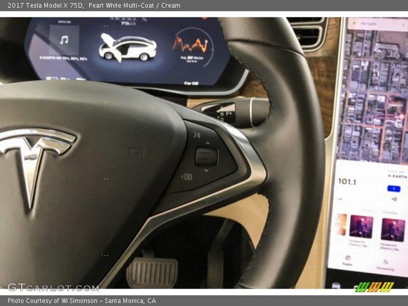 2017 Model X 75D Steering Wheel