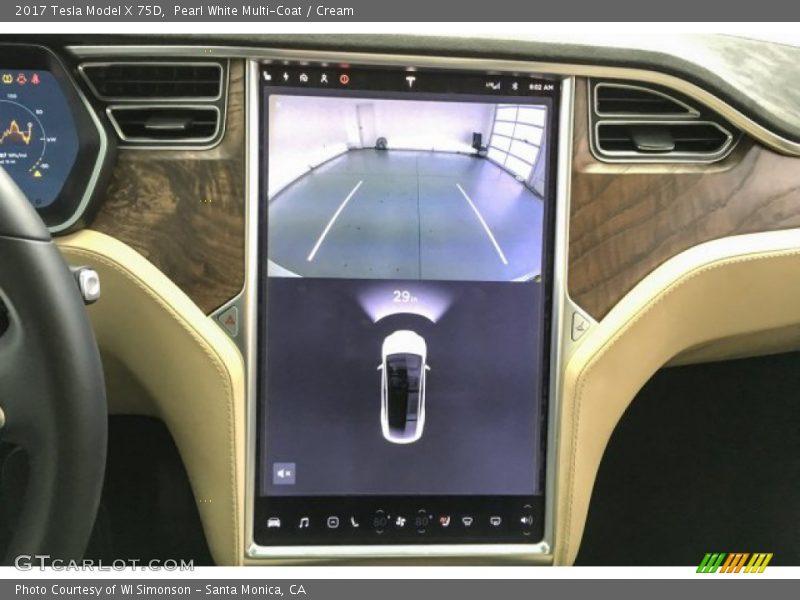Controls of 2017 Model X 75D
