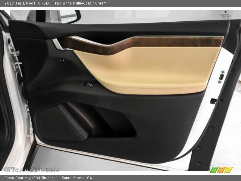 Door Panel of 2017 Model X 75D