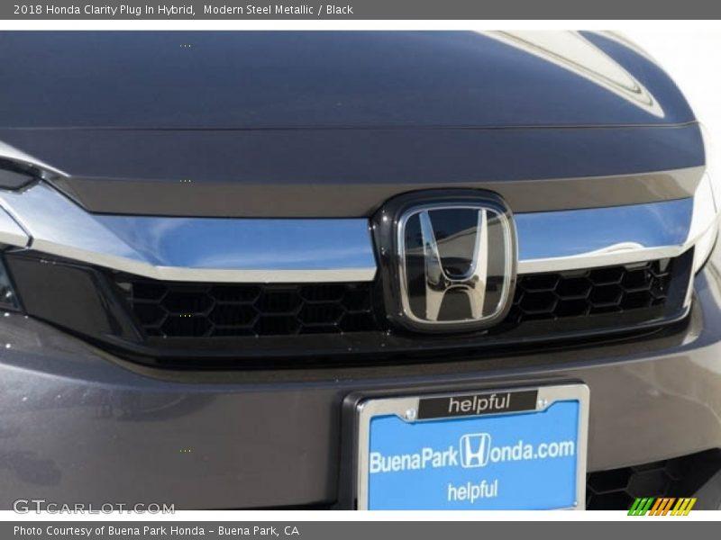 Modern Steel Metallic / Black 2018 Honda Clarity Plug In Hybrid