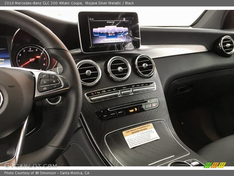 Mojave Silver Metallic / Black 2019 Mercedes-Benz GLC 300 4Matic Coupe