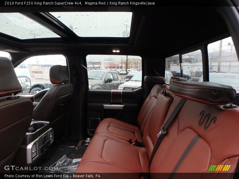 Rear Seat of 2019 F150 King Ranch SuperCrew 4x4