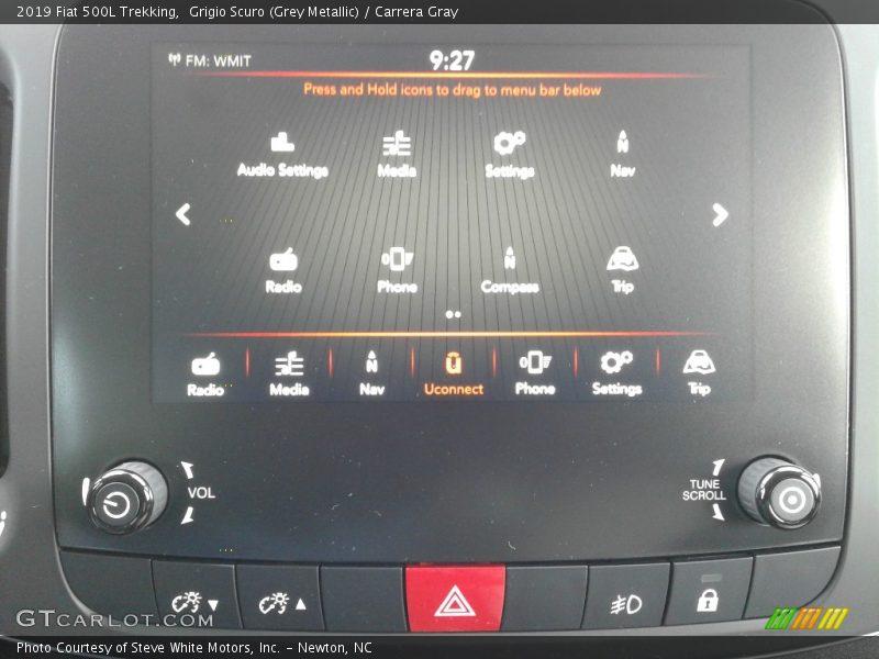 Grigio Scuro (Grey Metallic) / Carrera Gray 2019 Fiat 500L Trekking
