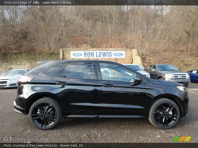 Agate Black / Ebony 2019 Ford Edge ST AWD