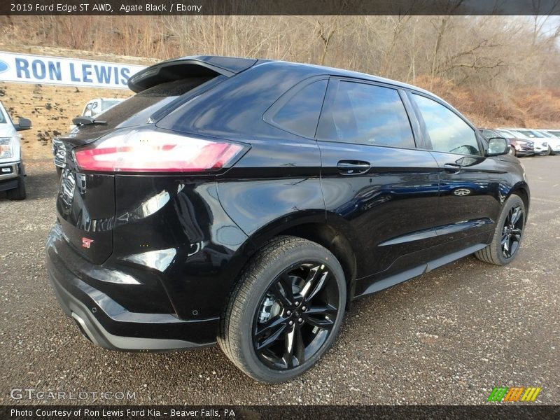 Agate Black / Ebony 2019 Ford Edge ST AWD