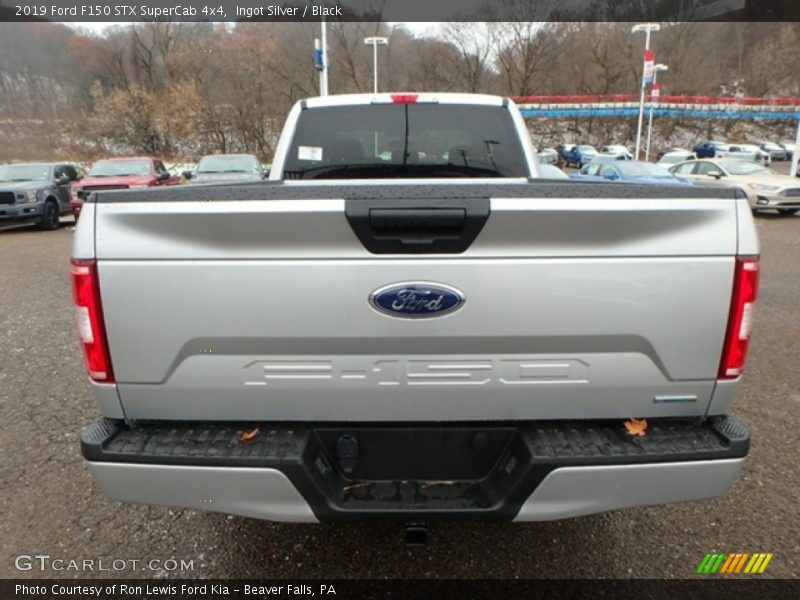 Ingot Silver / Black 2019 Ford F150 STX SuperCab 4x4