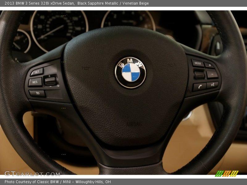 Black Sapphire Metallic / Venetian Beige 2013 BMW 3 Series 328i xDrive Sedan