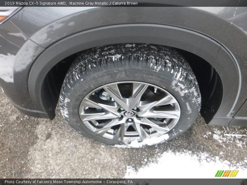 Machine Gray Metallic / Caturra Brown 2019 Mazda CX-5 Signature AWD